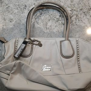 Guess white leather should bag
